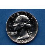 1963 Washington Quarter Proof  Silver US Coin - $10.00