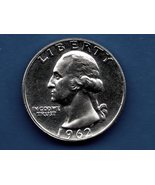 1962 Washington Quarter Proof  Silver US Coin - $10.00