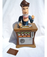 Tellerman talking automated coin bank - $25.00