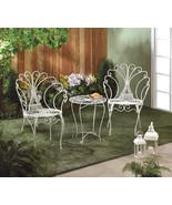 White Metal Chairs and Table Outdoor Patio Set - $165.00