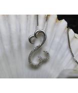 Jane Seymour Open Heart Diamond Necklace Sterli... - $65.00