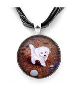 White Puppy Dog Poodle Maltese Maltipoo Handmad... - $29.99