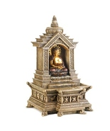 Buddha Indoor Fountain Tabletop golden temple w... - $34.95