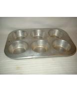 Vintage WORTHMORE Aluminum 6 Cupcake / Muffin P... - $9.99