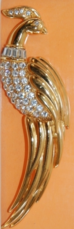Vintage Monet Figural Bird Brooch Pin