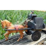 Vintage Irish Horse and Cart Driver Toy Ireland... - $15.95