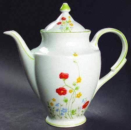 Favolina Coffee Server Porcelain English Flowers