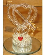 Glass Swans on a Mirror Base Figurine - $9.00