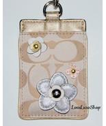 COACH Signature C Applique Floral Lanyard Flowe... - $85.50