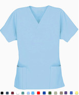 Women's Scrub Tops - Bahamas Blue - Size 2XL - ... - $7.99