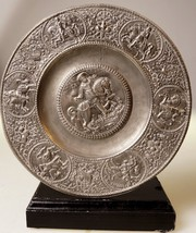 PEWTER PLATE CHARGER EMPEROR ON HORSEBACK GA R.... - $135.00