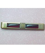 True Vintage tie clip with red faux stone inset... - $8.00