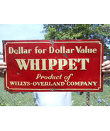 Vintage Sign Whippet Willys Overland Embossed c... - $840.51