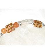 Orange and Silver millifiori bracelet - $7.00