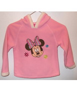 Girls Disney Pink Fleece Long Sleeve Hooded Top... - $8.50