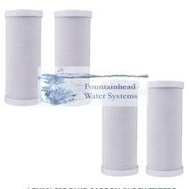Big Blue 4.5 X10' Set Of Filters. 4 Carbon Block Filters - $56.00