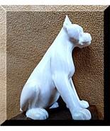 Bulldog Dog Pet Netsuke carving Figurine on Bas... - $99.87
