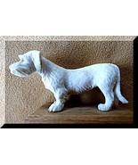 Schnauzer Dog Pet Bone carving Figurine German ... - $72.25