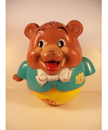 Vintage Fisher Price Pull Toy Bear Roly Poly Be... - $17.77