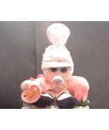 PINK SOCK BABY Gift Diaper Cake TOPPER ONLY - $28.00