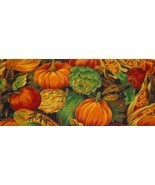 Lightweight Fall Pumpkin, Apple.Corn  Quilt, Cr... - $2.99