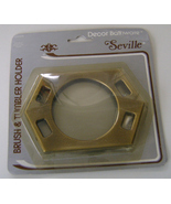 Seville Antique Brass Cup/Toothbrush Holder NIP - $6.00
