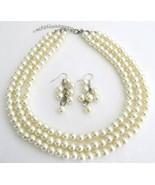 Beautiful Designed Jewelry Ivory Pearl Wedding ... - $21.83
