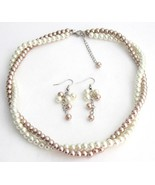 Fine Jewelry Set Bridesmaid In Ivory And Champa... - $19.08