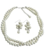 Ivory Pearl Twisted Necklace With Matching Grap... - $19.23