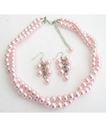 Wedding Bridesmaid Bridal Jewelry Stunning Pink... - $17.36