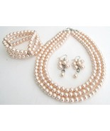 Jewelry Set Perfect Brides Bridesmaids Lite Pin... - $27.13