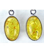 Large Golden Yellow formed Baltic Amber Oval ca... - $47.04