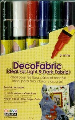 Marvy DecoFabric Fabric Marker Set (Primary Set)