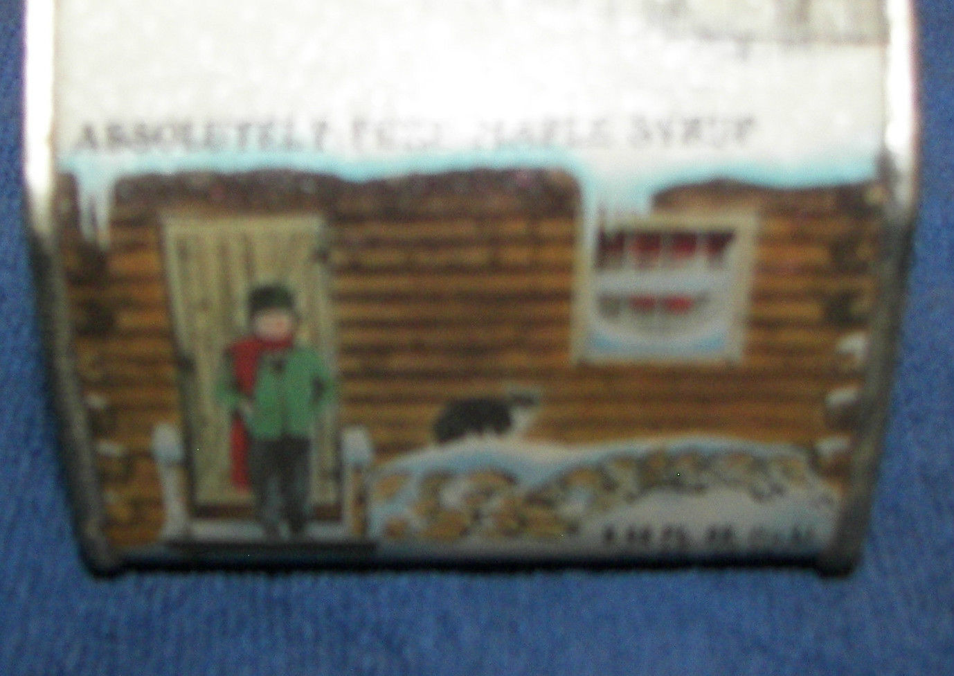 Wonderful image of  Vermont Maple Syrup Log Cabin Container 8.45 fl oz Pancakes & Syrup with #30496E color and 1378x976 pixels