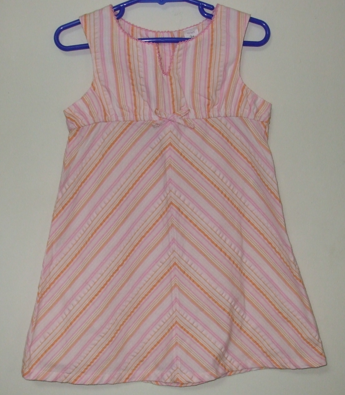 Girls Carters Sleeveless Multi Color Dress Size 3T
