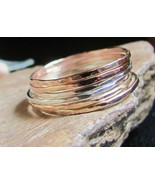 Skinny stack rings 14K gold filled & st.silver ... - $97.02