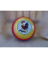 Vintage Rooster Bowl by Wolverine Tin Toys Colo... - $8.99
