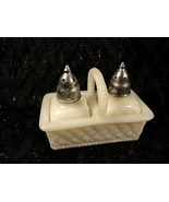 Vintage Milk Glass Salt and Pepper Shakers in B... - $8.99