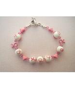 Breast Cancer Awareness Bracelet Glass Ribbon ... - $23.99