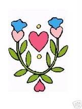 Hearts and  Bluebell Crochet Graph Afghan Pattern - $3.75