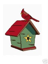 Cardinal and Birdhouse Crochet Graph Afghan Pat... - $3.75
