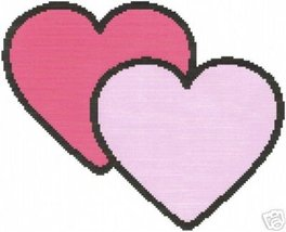 Simple Hearts Crochet Graph Afghan Pattern - $4.00