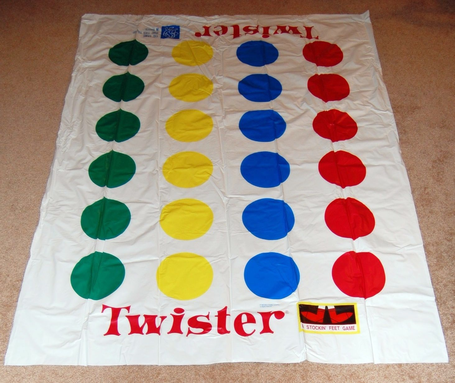 Twister Game Replacement Mat Milton Bradley Hasbro