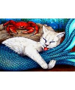 ACEO art print Cat Mermaid #6 by L. Dumas - $4.99