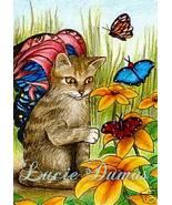 ACEO art print Cat 254 fairy by L.Dumas - $4.99