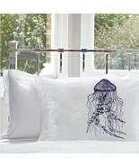 ONe Navy Blue Jellyfish pillowcase pillow case ... - $15.98