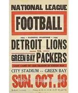 Detroit Lion Vs Green Bay Packers  Poster 1936 ... - $8.90