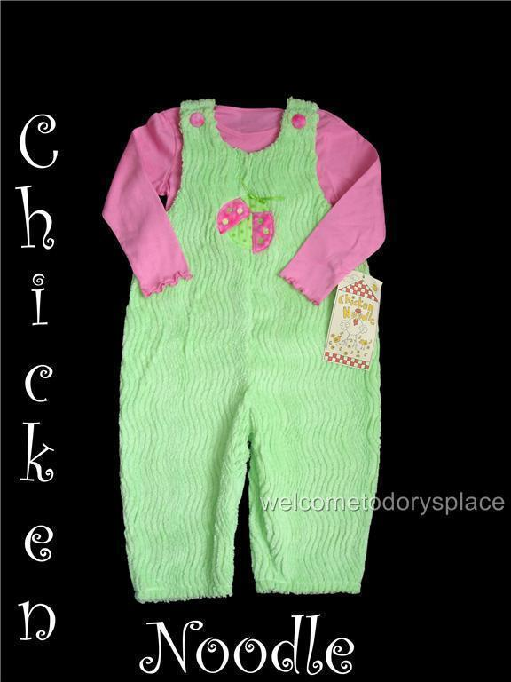 CHICKEN NOODLE Chenille Ladybug Romper Set 4T Boutique BRAND NEW NWT