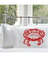 One Red Crab White Nautical Standard Pillowcase... - $15.98