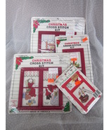 Lot of 4 Very Cute Christmas Cross Stitch Kits ... - $12.99